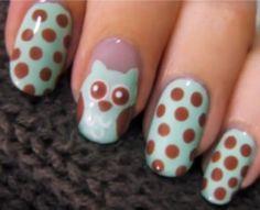 Little owl nail art (styletoday.nl)