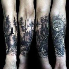 Resultado de imagem para nature tattoos