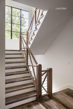 Small Staircase, Staircase Railings, Staircase Design, Stairways, Wood Railing, Bannister, Hardwood Stairs, Wooden Stairs, Hallway Flooring