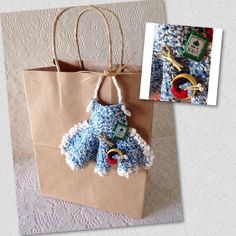 Mini Knitting/Sewing Apron Gift Bag with by AllSylviasCreations