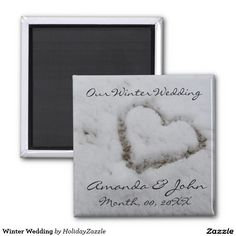 Shop Winter Wedding Magnet created by HolidayZazzle. Unique Save The Dates, Save The Date Magnets, Special Day, Frame, Winter, Wedding, Picture Frame, Winter Time, Valentines Day Weddings