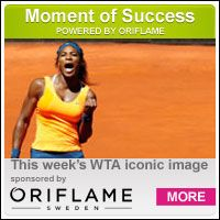 For a 5th time in 2013, ORIFLAME chooses Serena as this week's WTA Iconic Image! #WoW Serena won the Italian Open Title for a 2nd time, 11 years after she won her first. 'Serena Williams celebrated after securing her 51st WTA title in Rome. It was her 8th title on clay, third-most among active players.' This is also Serena's 5th title won in 2013. #ICON