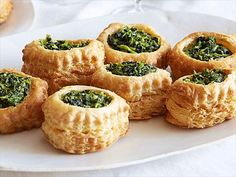 Spinach puff pastry shells, Family Fun Night Foods Videos : Food Network -