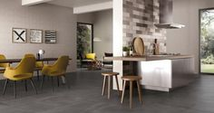 Find out all of the information about the CERAMICHE SUPERGRES product: indoor tile / kitchen / floor / porcelain stoneware CARNABY. Concrete Kitchen, House Design, Concrete Tiles, Kitchen Flooring, Concrete Tiles Kitchen, Flooring, Indoor Tile, Concrete Kitchen Floor, Kitchen Tiles
