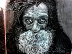 ►This is my favourite drawing. i won second place on an international drawing contest with it. Charcoal and Pencil. 50hours. Photographer:Lee Jeffries who took the original picture of this homeless man. I made this drawing based on that picture making my OWN style not intending an exact copy,im very proud of myself. #art #leejeffries #artist #draw #pencildraw #sketch #pencilsketch #graphite #charcoal #drawing #realistic #traditional #talent
