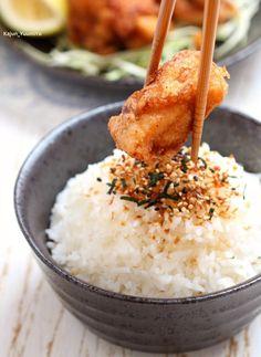 Thanks. Japanese Dishes, Japanese Food, Japanese Fried Chicken, Sweet Cooking, Glutinous Rice, Steamed Rice, Chicken Legs, Marinated Chicken, Boneless Chicken