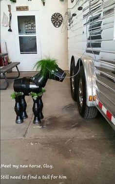Clay Pot Horse p5