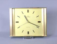 Vintage Mid Century Wall Clock Brass by JUNGHANS Large West German 1960's Modernist by Vinteology on Etsy Wall Clock Brass, Mid-century Modern, Art Deco, Quartz, Mid Century, Etsy Shop, Unique Jewelry, Clocks, German