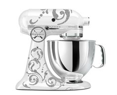 Swirl Kitchen Aid Mixer Wrap  Supreme by Designeee on Etsy  (Mine is white decal on dark blue mixer)