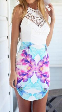 Watercolors dress