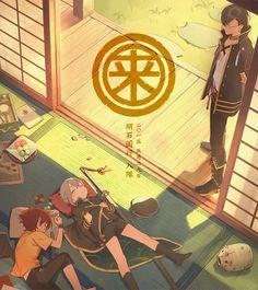 Tags: Formalin, Touken Ranbu, Hotarumaru, Aizen Kunitoshi, Akashi Kuniyuki, Rai School