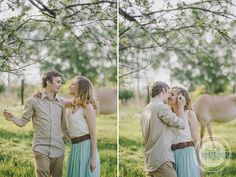 http://dreameyestudio.pl/ #dreameyestudio #mint #kiss #flower #love #weddingphotography #outdoorsession #engagementsession