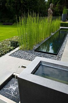 garden. horsetail and fountains. conceptLANDSCAPE