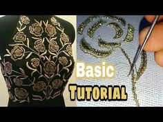 Hand Embroidery Aari designs | Zari Work | Hand Work - YouTube