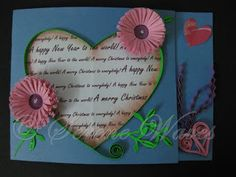 Happy New Year Card - Heart cut out