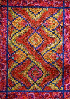 """Firefly bargello quilt, 46 x 66"""",  pattern by Linda McGibbon 