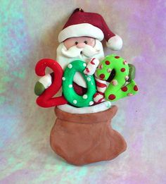 Polymer Clay 2012 Christmas Ornament/ by alongcameaspider1 on Etsy, $10.00