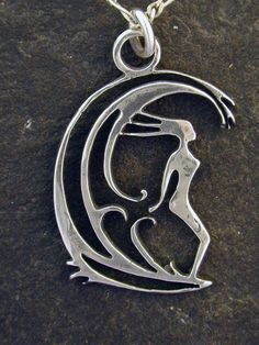 Sterling Silver Surfer Girl Pendant on a Sterling by peteconder
