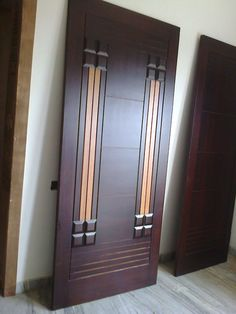 new door desiogn gallery Wooden Front Door Design, Main Entrance Door Design, Double Door Design, Wooden Double Doors, Wooden Doors, Bedroom Door Design, Door Design Interior, Pvc Ceiling Design, Door Design Images