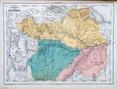 Atlas do Imperio do Brazil [...]. Mendes, Candido, 1818-1881 (org.). Província do Amazonas.