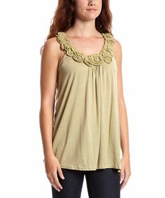 Another great find on #zulily! Sage Rosette Tank by Simply Irresistible #zulilyfinds