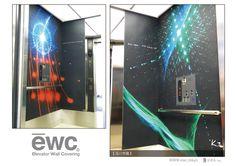 エレベーター・ウォール・カバリング 【ewc grafit】は、 傷や汚れの気になるエレベーター内部を、 自由なグラフィック表現のできるテキスタイルでカバーリングする製品です。 #elevator #wall #covering #ewc