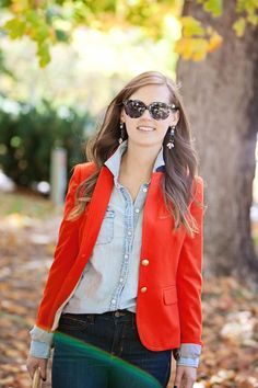 jillgg's good life (for less) | a style blog: my everyday style: shopping my closet and a red blazer!