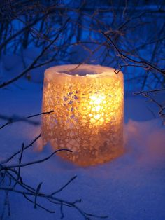 Ice Lantern With Lace