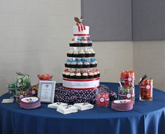 I am a bit late posting this, but I was so honored to be asked to create a cupcake tower and candy display for Patrick's Eagle Scout court of honors celebration. Becoming an Eagle Scout is quite an...