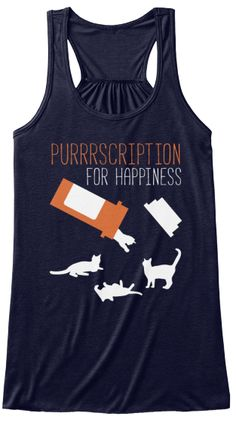 Purrrscription For Happiness Women's Tank Top Front