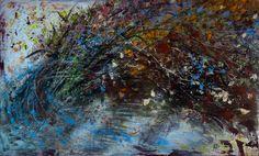 FRASCHE E FOGLIE, acrilico su tavola cm. 61 x 100 - 2010