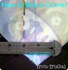 Box a corner, cushion tutorial