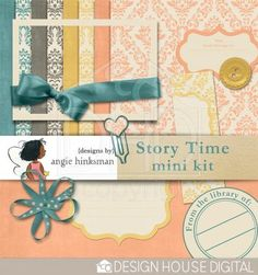 This weekend only! Story Time mini kit freebie from Angie Hinkman #scrapbook #digiscrap #scrapbooking #digifree #scrap