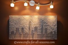 A tutorial on making city string art, to highlight the city you love! Full tutorial at Crafts For All Seasons.