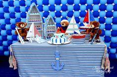 "Photo 6 of 14: Sailor/nautical / Birthday ""Sailor bear""   Catch My Party"