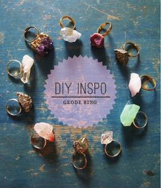 diy geode ring (perfect for bridesmaids!) #handmade #wedding