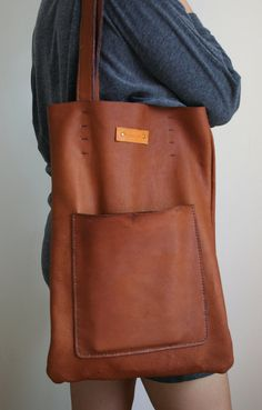 Hey, I found this really awesome Etsy listing at https://www.etsy.com/listing/189445423/brown-leather-tote-bag-vintage-leather