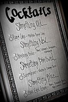 #Wedding Signature #Cocktails
