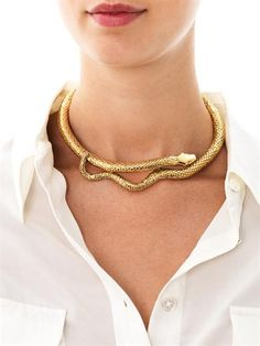 Click Image to Zoom MORE VIEWS          AURÉLIE BIDERMANN Tao gold-plated snake necklace