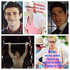 #Olicity (chanting---Oliver! Oliver!) Barry is adorable and Ray seems swoon worthy, but can't beat Oliver. sorry.