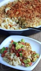 Smoked Gouda Macaroni and Cheese with Smoked Avocado Salsa © Jeanette's Healthy Living
