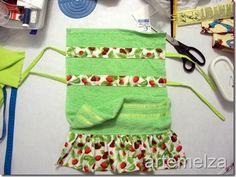 toalha de mão com franzido