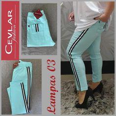 Spodnie z lampasem Cevlar BL03 kolor turkus rozmiar 38 – 40 – 42 - Big Sister Sweatpants, Fit, Fashion, Moda, La Mode, Sweat Pants, Fasion, Jumpsuits, Fashion Models