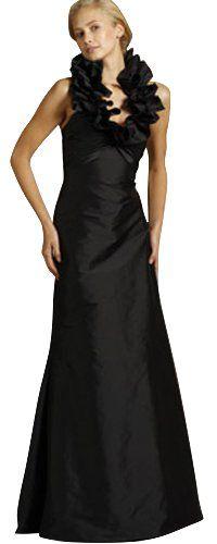 Dapene Woman/Lady Black A-line Long Bridesmaid « Dress Adds Everyday