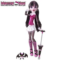 Monster High Draculaura Doll - Poseable Girls Toy with Pet, Parasol, Diary, Hairbrush & Doll Stand - Suitable for Children Ages 6 Years & Up...