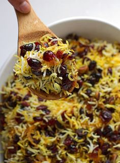 Fragrant Persian cranberry rice pilaf with saffron. Sweet, perfect for thanksgiv… Fragrant Persian cranberry rice pilaf with saffron. Sweet, perfect for thanksgiv… Indian Food Recipes, Vegetarian Recipes, Cooking Recipes, Top Recipes, Indian Snacks, Rice Recipes, Cooking Tips, Cranberry Rice Pilaf Recipe, Persian Rice Pilaf Recipe
