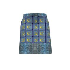 Grainline Studio Moss Skirt made with Spoonflower designs on Sprout Patterns…