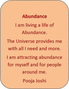 Affirmation-Abundance