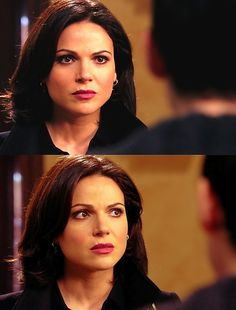 OUAT- Regina Mills aka Lana Parrilla's perfect face...perfect self. Seriously. Love her face in the 2nd picture