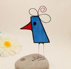 Blue Scrappy Bird